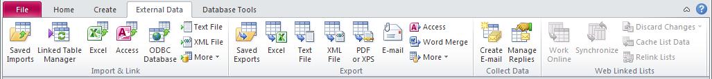 External Data Tab